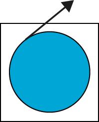 Blue with arrow