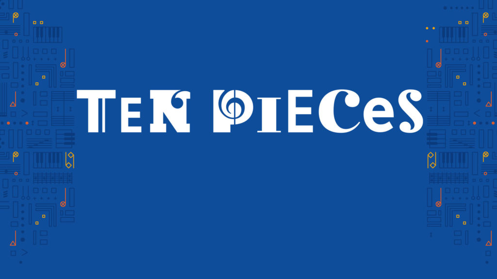 Blue banner with white text: TEN PIECES