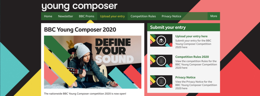 BBC Young Composer Website